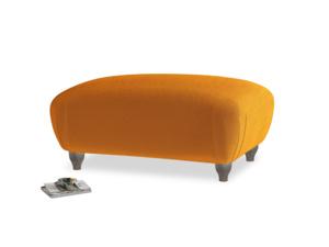 Rectangle Homebody Footstool in Spiced Orange clever velvet