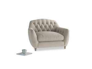 Love Seat Butterbump Love Seat in Birch wool