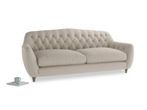 Large Butterbump Sofa in Buff brushed cotton