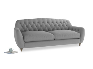 Large Butterbump Sofa in Magnesium washed cotton linen