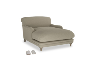 Pudding Love seat chaise in Jute vintage linen