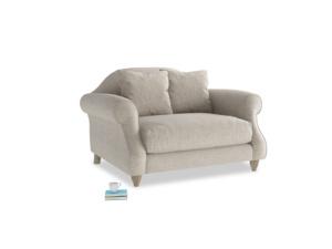 Sloucher Love seat in Birch wool