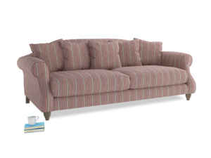 Large Sloucher Sofa in Red french stripe