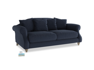 Medium Sloucher Sofa in Indigo vintage linen