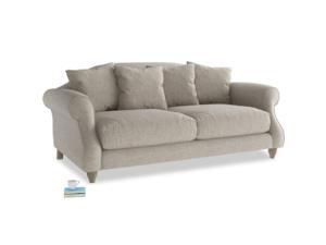 Medium Sloucher Sofa in Birch wool