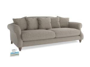 Large Sloucher Sofa in Birch wool