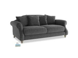 Medium Sloucher Sofa in Shadow Grey wool