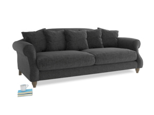 Large Sloucher Sofa in Shadow Grey wool
