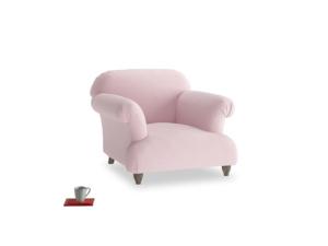 Soufflé Armchair in Pale Rose vintage linen