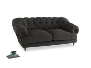 Medium Bagsie Sofa in Old Charcoal brushed cotton
