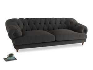 Extra large Bagsie Sofa in Old Charcoal brushed cotton