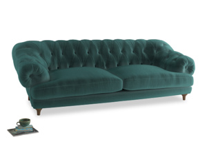 Extra large Bagsie Sofa in Real Teal clever velvet