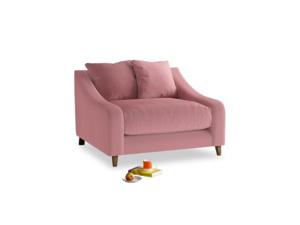 Oscar Love seat in Dusty Rose clever velvet