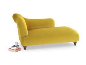 Left Hand Brontë Chaise Longue in Bumblebee clever velvet
