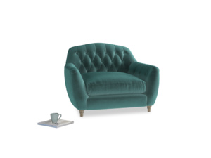 Love Seat Butterbump Love Seat in Real Teal clever velvet