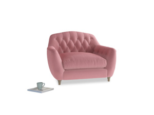 Love Seat Butterbump Love Seat in Dusty Rose clever velvet