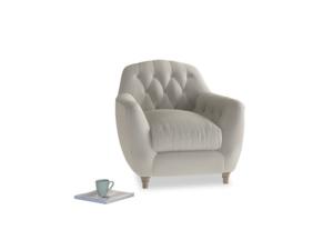 Butterbump Armchair in Smoky Grey clever velvet