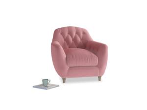 Butterbump Armchair in Dusty Rose clever velvet