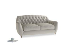 Medium Butterbump Sofa in Smoky Grey clever velvet