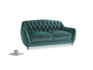Medium Butterbump Sofa in Real Teal clever velvet