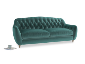 Large Butterbump Sofa in Real Teal clever velvet