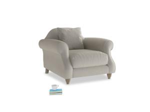 Sloucher Armchair in Smoky Grey clever velvet