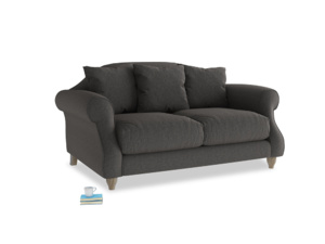 Small Sloucher Sofa in Old Charcoal brushed cotton