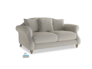 Small Sloucher Sofa in Smoky Grey clever velvet