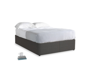 Double Store Storage Bed in Old Charcoal brushed cotton