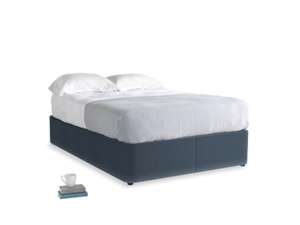 Double Store Storage Bed in Liquorice Blue clever velvet