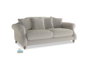 Medium Sloucher Sofa in Smoky Grey clever velvet