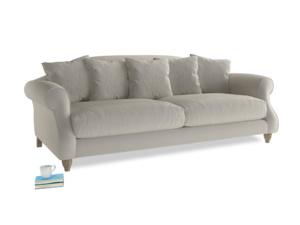 Large Sloucher Sofa in Smoky Grey clever velvet