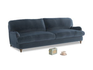 Large Jonesy Sofa in Liquorice Blue clever velvet
