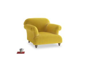 Soufflé Armchair in Bumblebee clever velvet