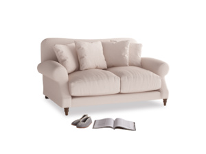 Small Crumpet Sofa in Faded Pink brushed cotton