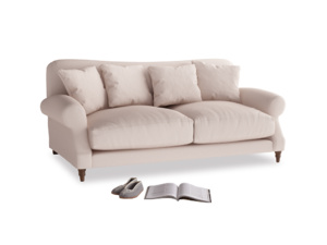 Medium Crumpet Sofa in Faded Pink brushed cotton