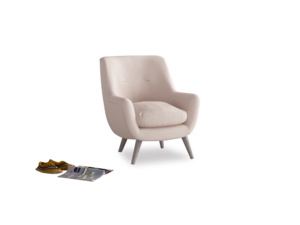 Berlin Armchair in Faded Pink brushed cotton