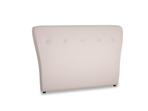 Double Smoke Headboard in Faded Pink brushed cotton