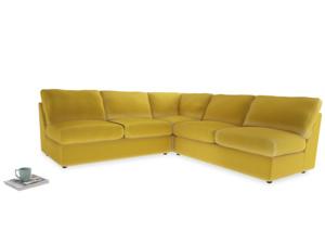 Even Sided  Chatnap modular corner storage sofa in Bumblebee clever velvet
