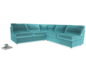 Even Sided  Chatnap modular corner storage sofa in Belize clever velvet