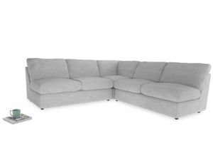 Even Sided  Chatnap modular corner storage sofa in Pebble vintage linen