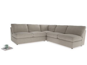 Even Sided  Chatnap modular corner storage sofa in Birch wool