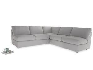 Even Sided  Chatnap modular corner storage sofa in Flint brushed cotton