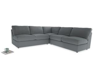 Even Sided  Chatnap modular corner storage sofa in Dusk vintage linen