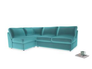 Large left hand Chatnap modular corner storage sofa in Belize clever velvet