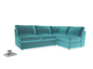 Large right hand Chatnap modular corner storage sofa in Belize clever velvet
