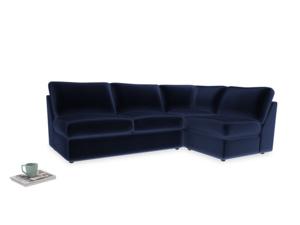 Large right hand Chatnap modular corner storage sofa in Midnight plush velvet