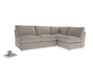 Large right hand Chatnap modular corner storage sofa in Birch wool