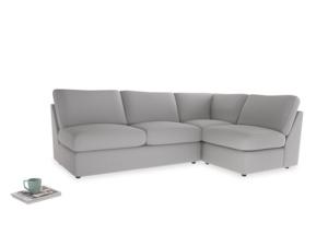 Large right hand Chatnap modular corner storage sofa in Flint brushed cotton
