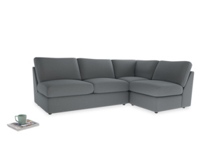 Large right hand Chatnap modular corner storage sofa in Dusk vintage linen